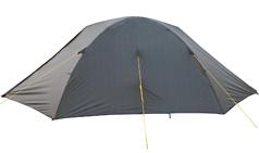 Палатка цвет хаки в закрытом состоянии (вид сбоку)
